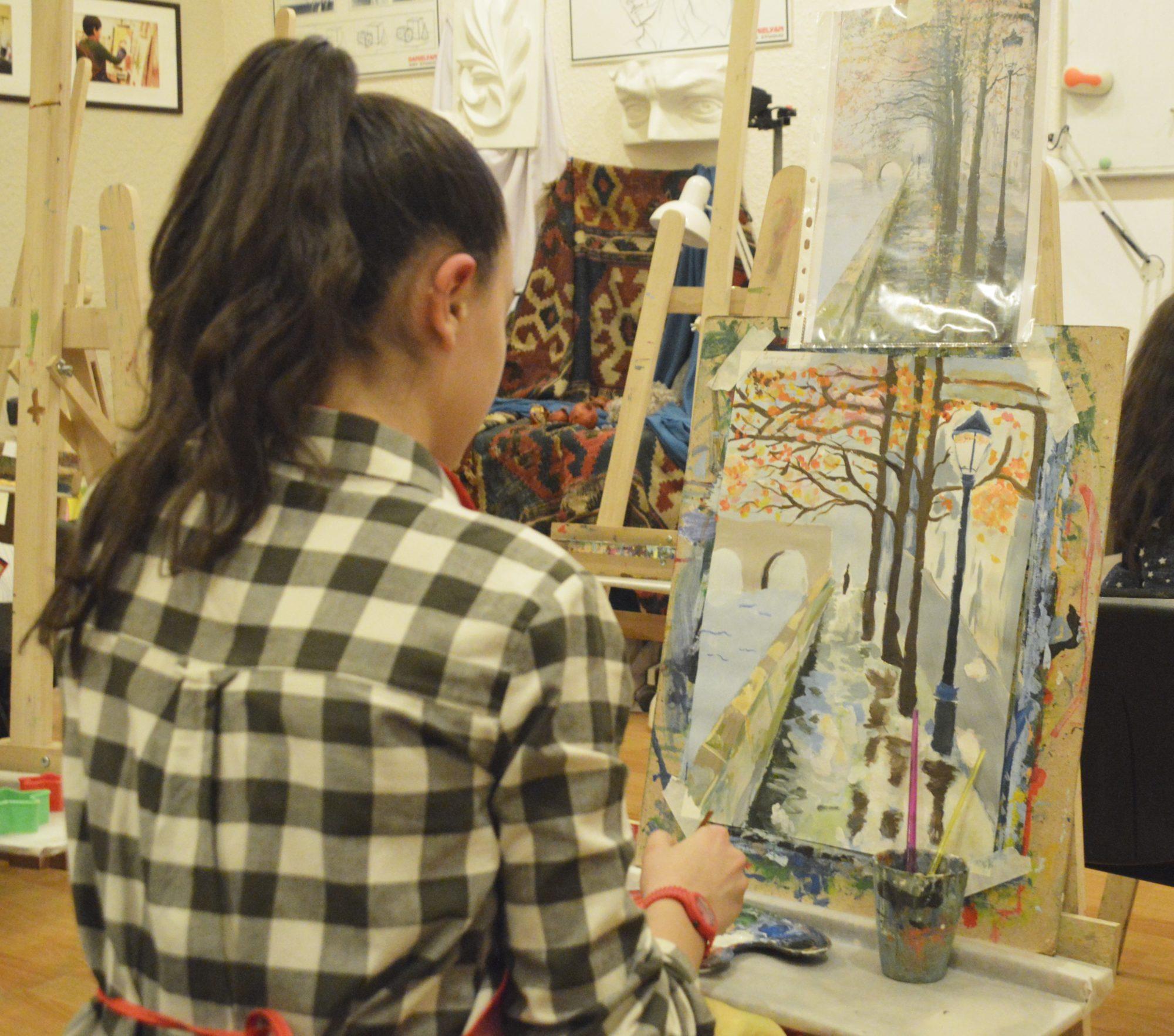 «Դանիելյան» արվեստի կենտրոնի թղթակցի անդրադարձը՝ Նատալիի ստեղծագործական առօրյային